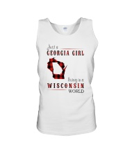 JUST A GEORGIA GIRL IN A WISCONSIN WORLD Unisex Tank thumbnail