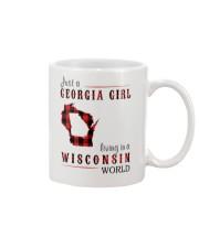JUST A GEORGIA GIRL IN A WISCONSIN WORLD Mug thumbnail