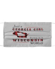 JUST A GEORGIA GIRL IN A WISCONSIN WORLD Cloth face mask thumbnail