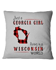 JUST A GEORGIA GIRL IN A WISCONSIN WORLD Square Pillowcase thumbnail