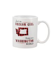 JUST AN OREGON GIRL IN A WASHINGTON WORLD Mug thumbnail