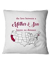 CALIFORNIA MASSACHUSETTS THE LOVE MOTHER AND SON Square Pillowcase thumbnail