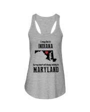 LIVE IN INDIANA BUT BELONG TO MARYLAND Ladies Flowy Tank thumbnail