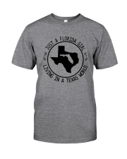 FLORIDA GIRL LIVING IN TEXAS WORLD Classic T-Shirt tile