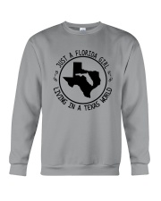 FLORIDA GIRL LIVING IN TEXAS WORLD Crewneck Sweatshirt tile