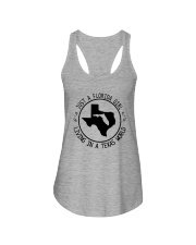 FLORIDA GIRL LIVING IN TEXAS WORLD Ladies Flowy Tank thumbnail