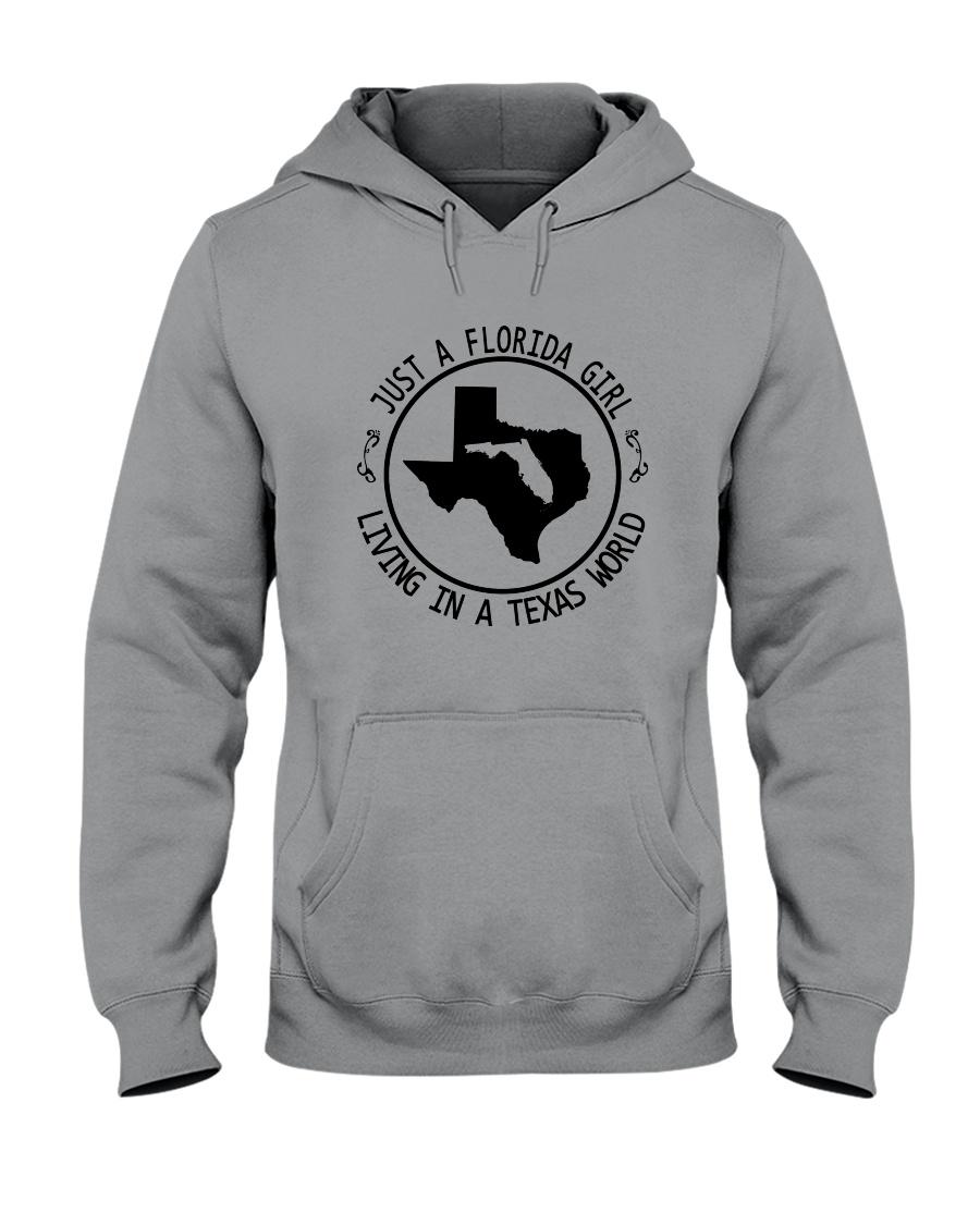 FLORIDA GIRL LIVING IN TEXAS WORLD Hooded Sweatshirt