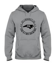 MASSACHUSETTS GIRL LIVING IN NORTH CAROLINA WORLD Hooded Sweatshirt front