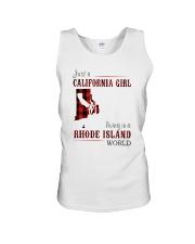 JUST A CALIFORNIA GIRL IN A RHODE ISLAND WORLD Unisex Tank thumbnail
