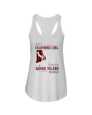 JUST A CALIFORNIA GIRL IN A RHODE ISLAND WORLD Ladies Flowy Tank thumbnail