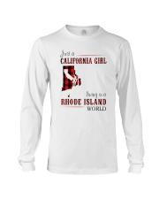 JUST A CALIFORNIA GIRL IN A RHODE ISLAND WORLD Long Sleeve Tee thumbnail