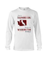 JUST A CALIFORNIA GIRL IN A WASHINGTON WORLD Long Sleeve Tee thumbnail
