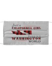 JUST A CALIFORNIA GIRL IN A WASHINGTON WORLD Cloth face mask thumbnail