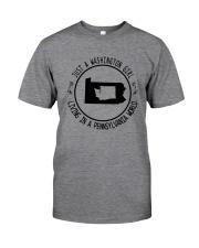 WASHINGTON GIRL LIVING IN PENNSYLVANIA WORLD Classic T-Shirt thumbnail