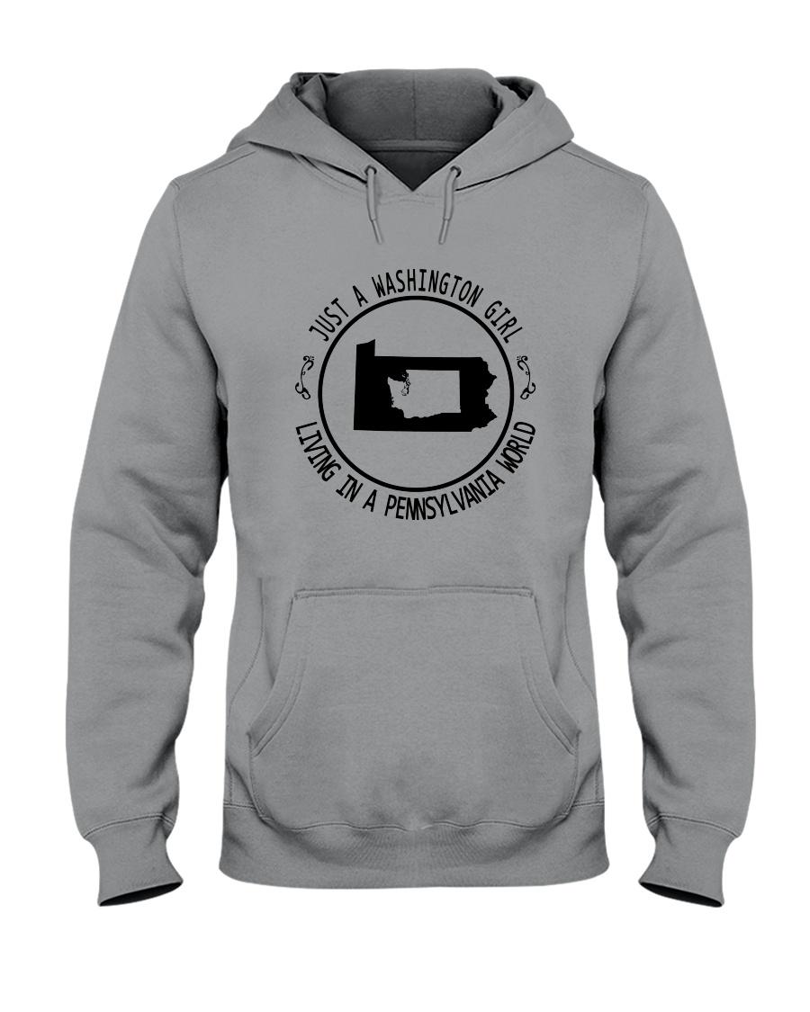 WASHINGTON GIRL LIVING IN PENNSYLVANIA WORLD Hooded Sweatshirt