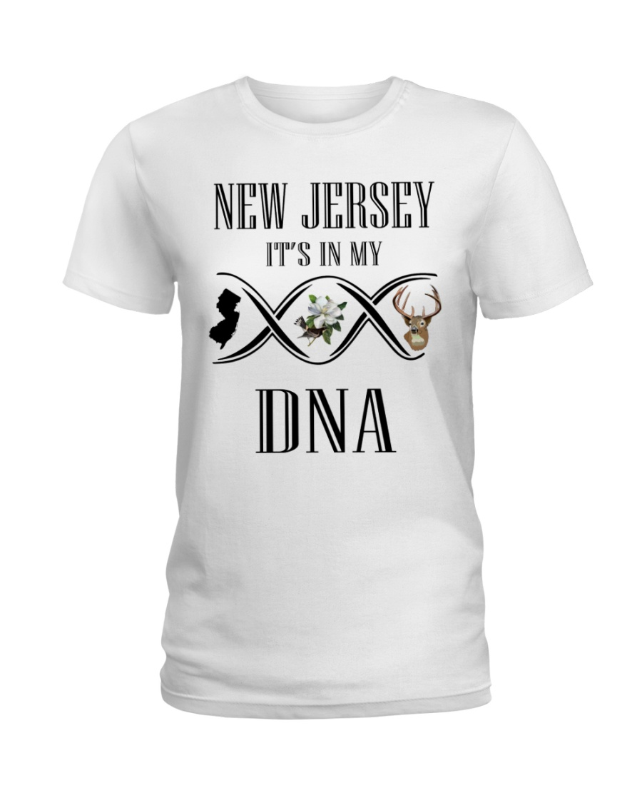 NEW JERSEY IT'S IN MY DNA Ladies T-Shirt
