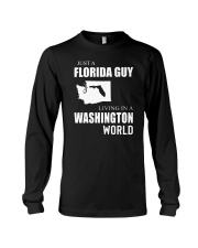 JUST A FLORIDA GUY IN A WASHINGTON WORLD Long Sleeve Tee tile