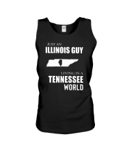 JUST AN ILLINOIS GUY IN A TENNESSEE WORLD Unisex Tank thumbnail