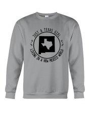 TEXAS GIRL LIVING IN NEW MEXICO WORLD Crewneck Sweatshirt thumbnail