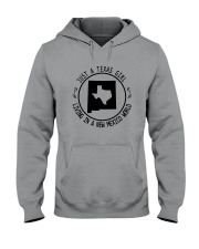 TEXAS GIRL LIVING IN NEW MEXICO WORLD Hooded Sweatshirt front