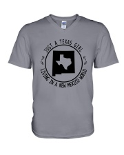TEXAS GIRL LIVING IN NEW MEXICO WORLD V-Neck T-Shirt thumbnail