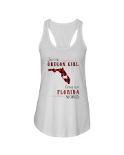 JUST AN OREGON GIRL IN A FLORIDA WORLD Ladies Flowy Tank thumbnail