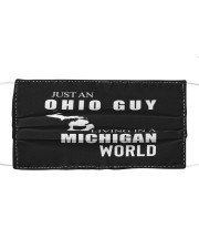 JUST AN OHIO GUY IN A MICHIGAN WORLD Cloth face mask thumbnail