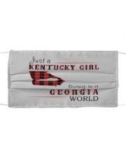 JUST A KENTUCKY GIRL IN A GEORGIA WORLD Cloth face mask thumbnail