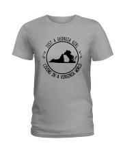 GEORGIA GIRL LIVING IN VIRGINIA WORLD Ladies T-Shirt thumbnail
