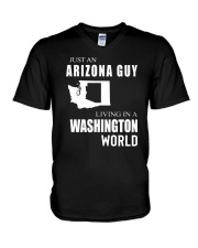 JUST AN ARIZONA GUY IN A WASHINGTON WORLD V-Neck T-Shirt thumbnail