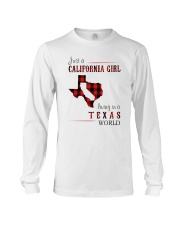 JUST A CALIFORNIA GIRL IN A TEXAS WORLD Long Sleeve Tee thumbnail