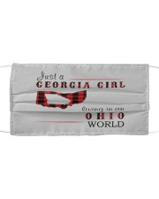 JUST A GEORGIA GIRL IN AN OHIO WORLD Cloth face mask thumbnail