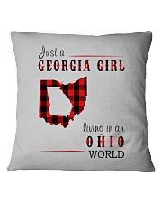 JUST A GEORGIA GIRL IN AN OHIO WORLD Square Pillowcase thumbnail