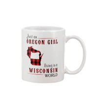 JUST AN OREGON GIRL IN A WISCONSIN WORLD Mug tile