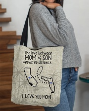 CALIFORNIA FLORIDA THE LOVE MOM AND SON All-over Tote aos-all-over-tote-lifestyle-front-09