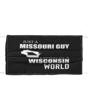JUST A MISSOURI GUY IN A WISCONSIN WORLD Cloth face mask thumbnail