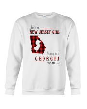 JUST A NEW JERSEY GIRL IN A GEORGIA WORLD Crewneck Sweatshirt thumbnail
