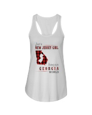 JUST A NEW JERSEY GIRL IN A GEORGIA WORLD Ladies Flowy Tank thumbnail