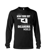 JUST A NEW YORK GUY IN AN OKLAHOMA WORLD Long Sleeve Tee thumbnail
