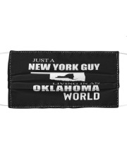 JUST A NEW YORK GUY IN AN OKLAHOMA WORLD Cloth face mask thumbnail