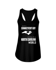 JUST A CONNECTICUT GUY IN A NORTH CAROLINA WORLD Ladies Flowy Tank thumbnail