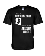 JUST A NEW JERSEY GUY IN AN ARIZONA WORLD V-Neck T-Shirt thumbnail
