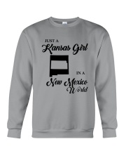 JUST A KANSAS GIRL IN A NEW MEXICO WORLD Crewneck Sweatshirt tile