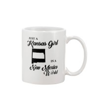 JUST A KANSAS GIRL IN A NEW MEXICO WORLD Mug tile