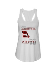 JUST A MASSACHUSETTS GIRL IN A MISSOURI WORLD Ladies Flowy Tank tile