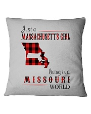 JUST A MASSACHUSETTS GIRL IN A MISSOURI WORLD Square Pillowcase thumbnail