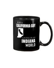 JUST A CALIFORNIA GUY IN AN INDIANA WORLD Mug thumbnail