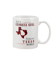 JUST A GEORGIA GIRL IN A TEXAS WORLD Mug tile