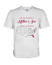 NEW JERSEY FLORIDA THE LOVE MOTHER AND SON V-Neck T-Shirt thumbnail