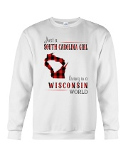 JUST A SOUTH CAROLINA GIRL IN A WISCONSIN WORLD Crewneck Sweatshirt tile
